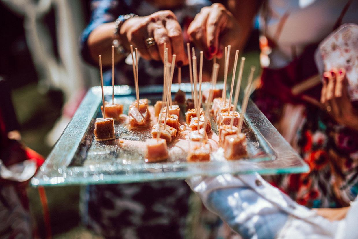catering ecológico cóctel boda