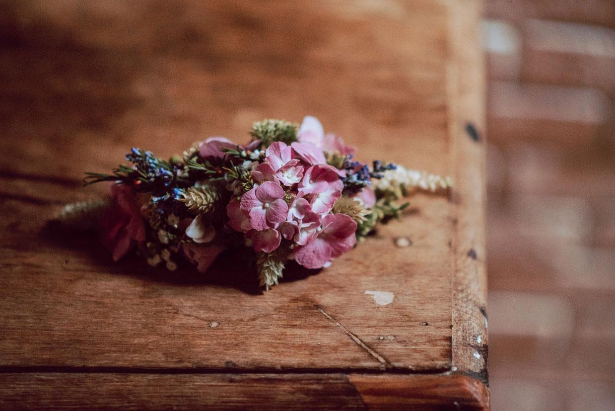 tocado flor novia
